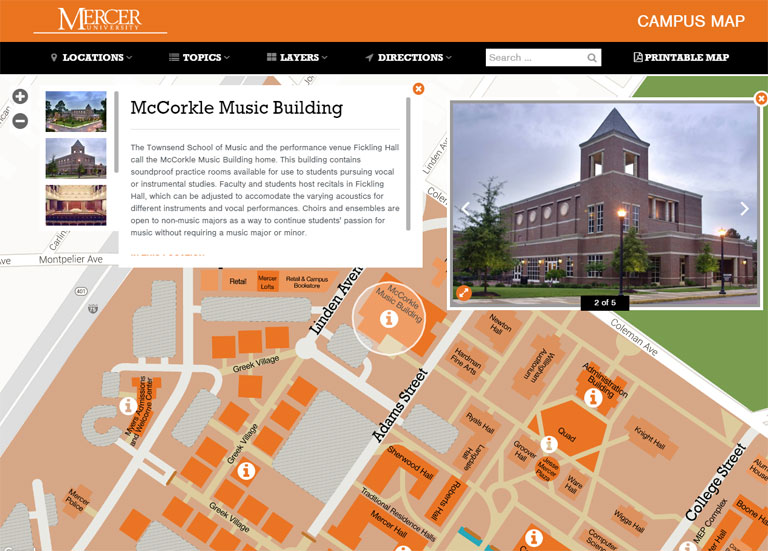 College & University Interactive Campus Maps